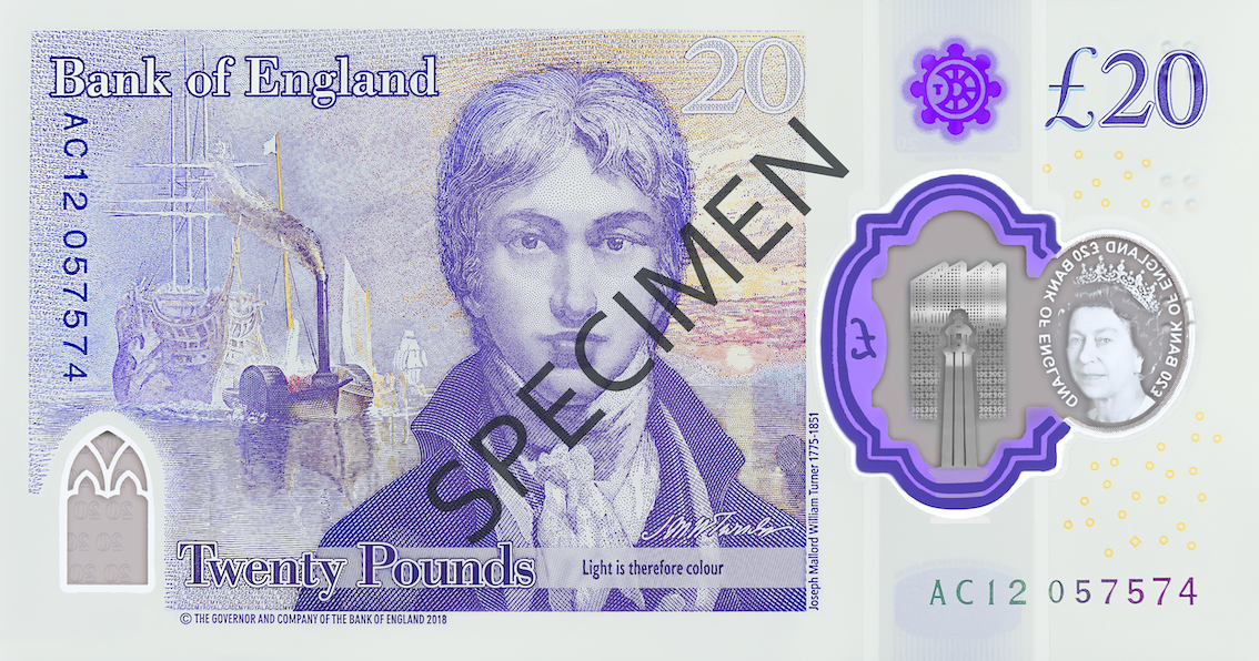 Turner Contemporary features on new £20 note