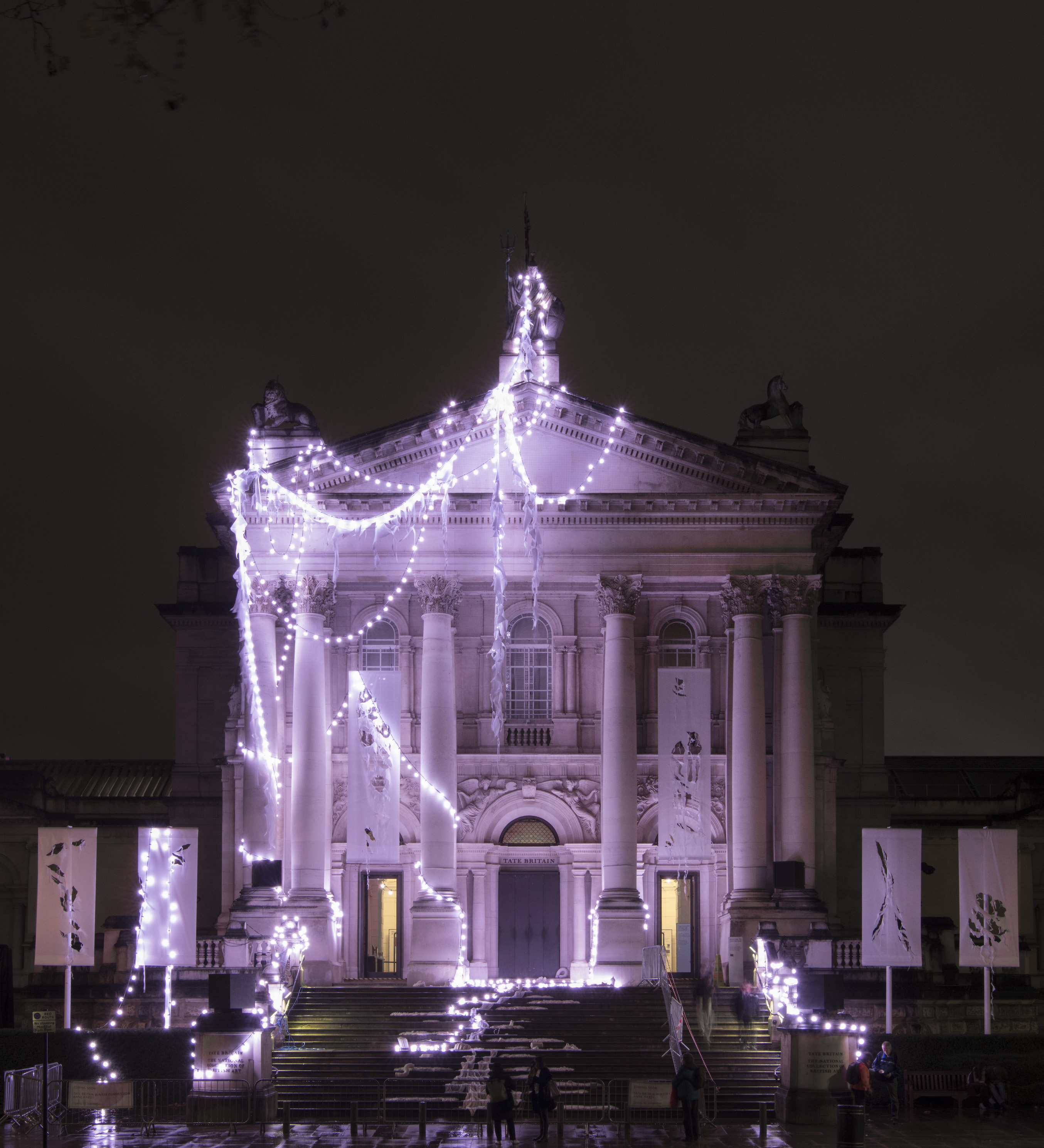 Tate Britain becomes its own Christmas tree