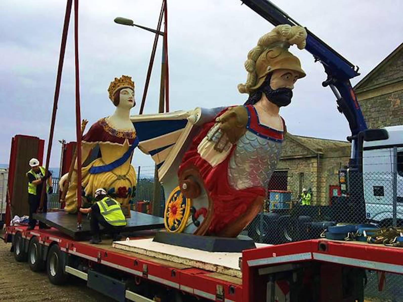 Restored figureheads centrepiece for Plymouth's £40m The Box