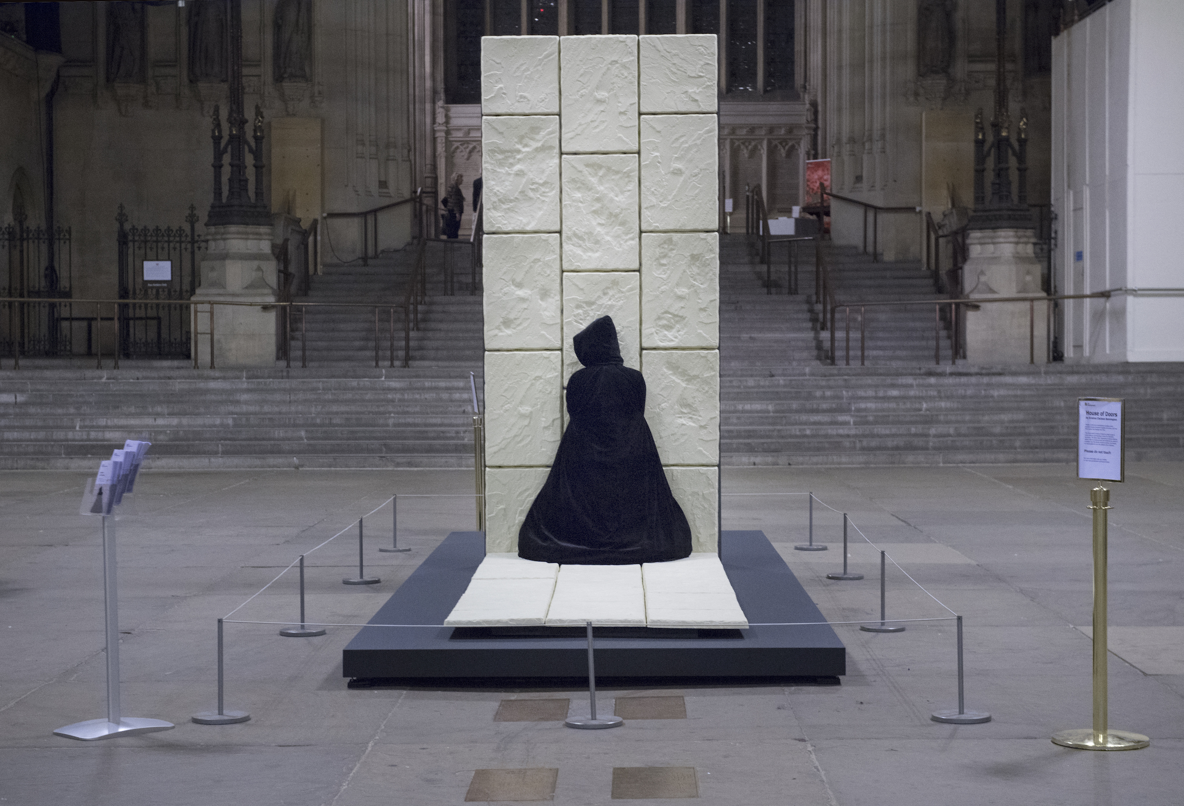 Sculpture opens Westminster doors